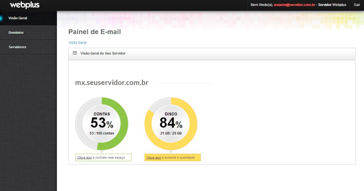 Email corporativo premium em português