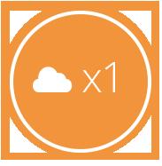 Backup automático regra 3-2-1 cloud storage. Uma cópia em cloud.