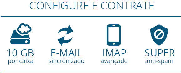 E-mail premium sincronizado com imap avançado e anti-spam anti-virus.