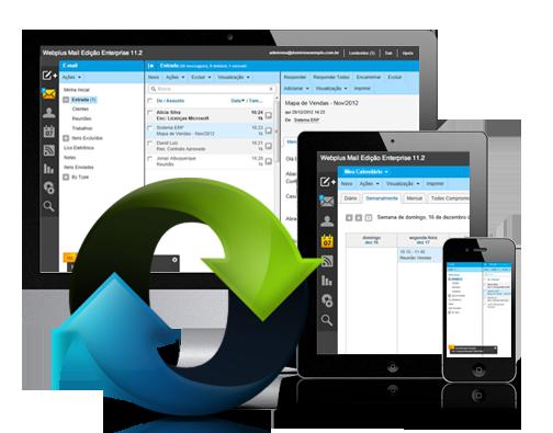 Sincronização de e-mail entre dispositivos.