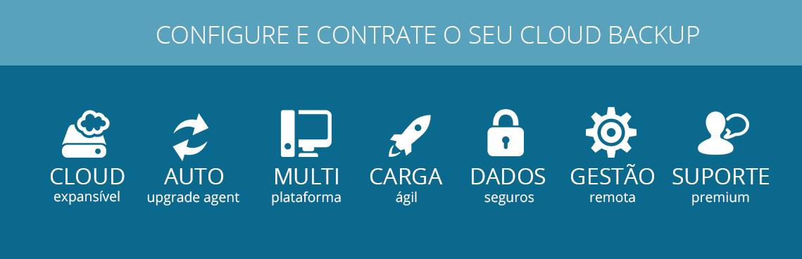 Configure e contrate o seu cloud backup.